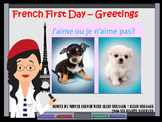 FRENCH FIRST DAY SCRIPT FOR 90%  TARGET LANGUAGE CLASS