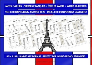 ELEMENTARY FRENCH ÊTRE & AVOIR WORD SEARCHES