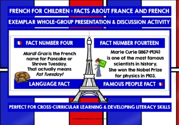 FRANCE COUNTRY FACTS TASK CARDS, RECORDING SHEETS, DISCUSSION ACTIVITY (2)