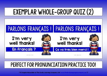 FRENCH FOR CHILDREN - FOUR QUICK VOCAB QUIZZES (2) - 40 WORDS & PHRASES