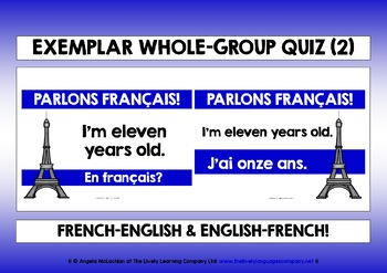 FRENCH FOR CHILDREN - FOUR QUICK VOCAB QUIZZES (1) - 40 WORDS & PHRASES