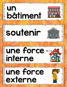 FRENCH FORCES ACTING ON STRUCTURES UNIT - GRADE 5 SCIENCE (L'EFFET DES FORCES)