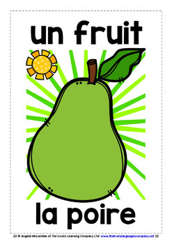 FRENCH FOR CHILDREN - 25 FRUITS POSTERS / FLASHCARDS