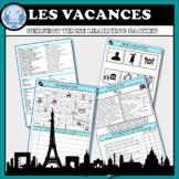 FRENCH FSL DISTANCE LEARNING Holidays Perfect Tense Les vacances Le parfait