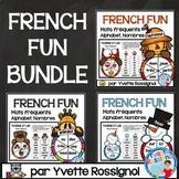 French Centre Activities BUNDLE - Lecture de mots fréquent, nombres et alphabet