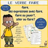 FRENCH:  Faire,  Des Expressions avec Faire, Faire ou Joue
