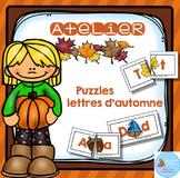 FRENCH {Fall ABC puzzles}/ Automne {Majuscules et minuscules
