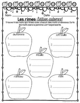 FRENCH Fall Activities FREEBIE - Activités pour l'automne (Maths et littératie)
