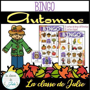 ☀️FRENCH☀️ Fall Bingo - Bingo d'automne