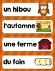 FRENCH {Fall Words center}/ Automne {Étiquettes-mots}