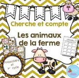 FRENCH Farm animals Count the room/ Cherche et compte (Animaux de la ferme)
