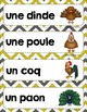 FRENCH {Farm animals Words center}/ Animaux de la ferme{Étiquettes-mots}