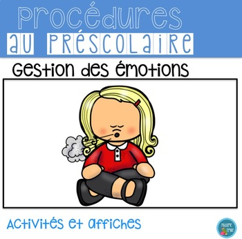 FRENCH Feelings Calm down/ Gestion des émotions(Affichage et activités)