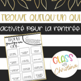 FRENCH Find Someone Who - Back to School Icebreaker Activity
