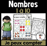FRENCH Finding Groups - Numbers 1-10 / Je peux compter - Nombres 1-10