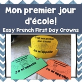FRENCH First Day of School Crowns/Le premier jour d'ecole - couronne