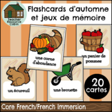 FRENCH Flashcards d'automne   Autumn Flashcards and Memory Game