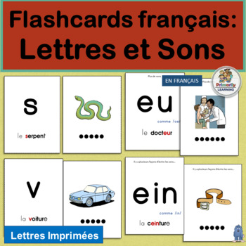 French: Flashcards français - Lettres et Sons complements Jolly Learning.