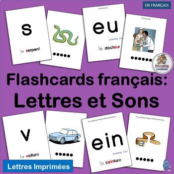 French: Flashcards français - Lettres et Sons complements