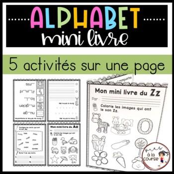 FRENCH Foldable Alphabet Booklets/Mini livres de l'alphabet