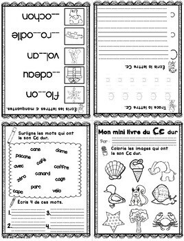 FRENCH Foldable Alphabet Booklets/Minis livres Alphabet Distance Learning