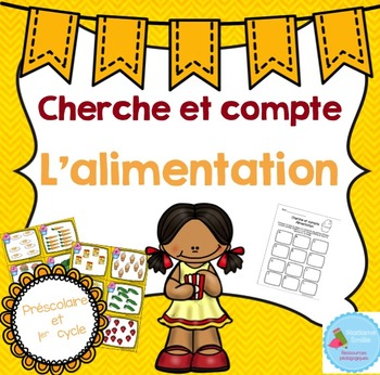 FRENCH Food Count the room/ Cherche et compte (Alimentation)