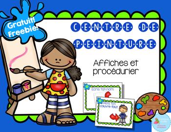 FRENCH Freebie Art Easel Routine/ Routine du centre de pei