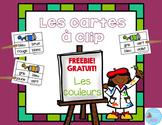 FRENCH Freebie Colors Clip Cards set/ Les couleurs Français