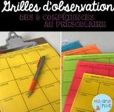 FRENCH (student observation)/ Observations maternelle (6 compétences)