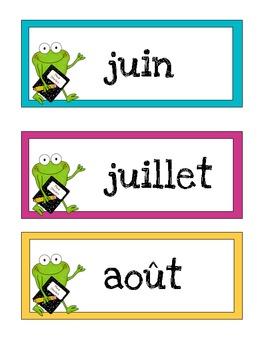 FRENCH - Frog Calendar Set