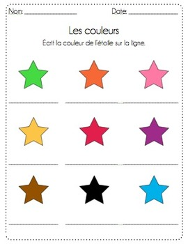 FRENCH - Frog Colour Posters