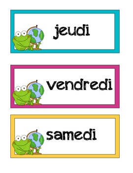 FRENCH Frog Theme - White & Neon
