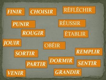 FRENCH GAME: Frappez la Mouche Les Verbes en -IR