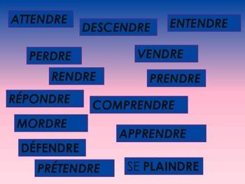 FRENCH GAME: Frappez la Mouche Les Verbes en -RE