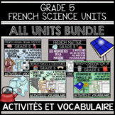FRENCH GRADE 5 SCIENCE UNITS GROWING BUNDLE (HUMAN BODY, FORCES, MATTER, ENERGY)