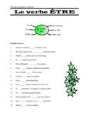 FRENCH -GRAMMAR  Le verbe ETRE, worksheet and key