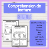 FRENCH GROWING BUNDLE Easy Reading Comprehension | Compréh