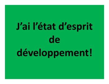 FRENCH GROWTH MINDSET - J'AI L'ÉTAT D'ESPRIT DE DÉVELOPPEMENT