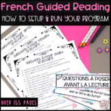 FRENCH GUIDED READING PACKAGE - 155 PAGES! (LECTURE GUIDÉE POUR LE PRIMAIRE)