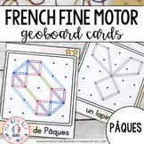 FRENCH Geoboard Easter Math Centre - Pâques - Géoplans