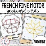 FRENCH Geoboard Fall Math Centre - Centres de mathématiques (automne) - Géoplans