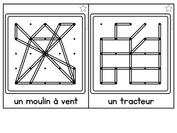 FRENCH Geoboard Farm Themed Math Centre - la ferme - Géoplans