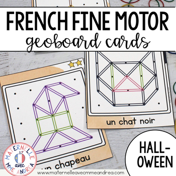 FRENCH Geoboard Halloween Math Centre - l'Halloween - Géoplans