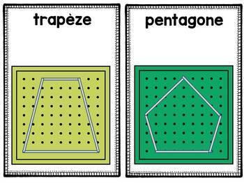 FRENCH Geoboard Shapes / Formes géométriques avec géoplan