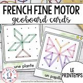 FRENCH Geoboard Spring Math Centre - Centres de mathématiques - Géoplans