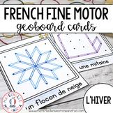 FRENCH Geoboard Winter Math Centre - Centres de mathématiques (hiver) - Géoplans