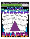 FRENCH - Geometric Shapes Flashcards - 3D Shapes - Colour the Flashcards