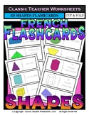 FRENCH - Geometric Shapes Flashcards - 3D Shapes - Cut & Fold Flashcards