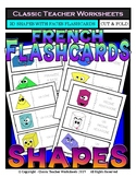 FRENCH - Geometric Shapes Flashcards -3D Shapes with Faces-Cut & Fold Flashcards