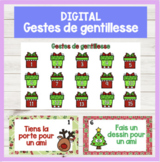 FRENCH Gestes de gentillesse Kindness Countdown Noël